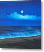 Blue Moon Metal Print by Delia Birnhak Swenson