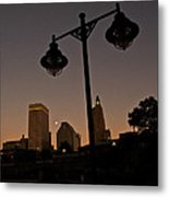 Blue Moon Over Downtown Providence 1 Metal Print