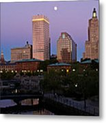 Blue Moon Over Downtown Providence 2 Metal Print