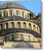 Blue Mosque Domes Metal Print