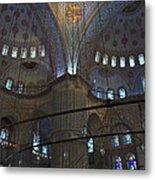 Blue Mosque Interior Metal Print