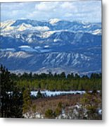 Blue Mountain View Metal Print