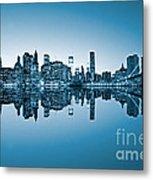 Blue New York City Metal Print