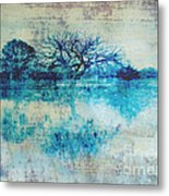 Blue On Blue Metal Print by Ann Powell