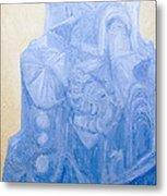 Blue Pagan Church Metal Print