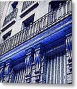 Blue Paris Lights Metal Print