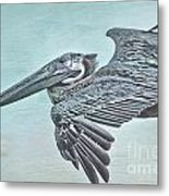 Blue Pelican Metal Print