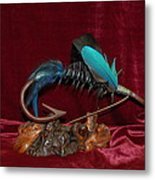Blue Persuader Trout Fly Metal Print