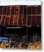 Blue Pickup Truck Metal Print