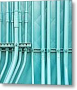 Blue Pipes Metal Print by Tom Gowanlock