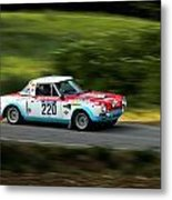 Blue Red And White Fiat Abarth Metal Print