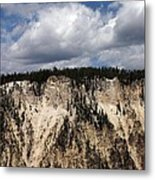 Blue Skies And Grand Canyon In Yellowstone Metal Print