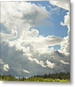 Blue Sky And Building Storm Clouds Fiane Art Print Metal Print