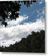 Blue Sky And Clouds Metal Print