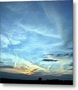 Blue Sky At Night Metal Print