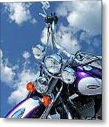 Blue Sky Harley Metal Print