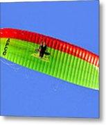 Blue Sky Paraglider Metal Print