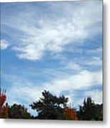 Blue Sky White Clouds Autumn Prints Metal Print