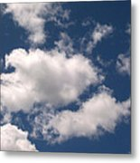 Blue Sky With Clouds Metal Print