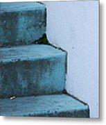 Blue Stairs Metal Print