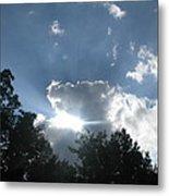 Blue Summer Skys Metal Print