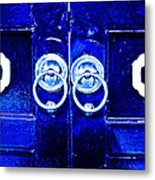 Blue Temple Doors Metal Print