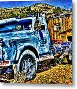 Blue Truck Metal Print