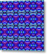 Blue Turquoise And Purple Metal Print