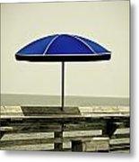 Blue Umbrella  Metal Print