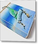 Blue Water Sailing Metal Print