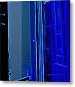 Blue Window In Paris Metal Print