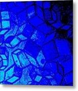 Blue Zinc Metal Print