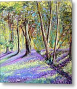 Bluebell Wood Metal Print
