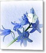 Bluebells And Butterflies Metal Print