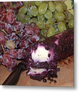 Blueberry Cheese Metal Print
