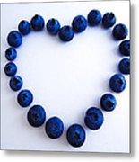 Blueberry Heart Metal Print by Julia Wilcox