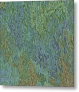 Bluegreen Stone Abstract Metal Print
