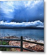 Bluer On The Other Side Metal Print