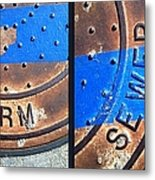 Bluer Sewer Diptych Metal Print