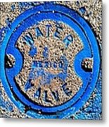 Bluer Sewer Triptych Metal Print