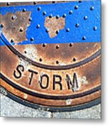Bluer Sewer Two Metal Print