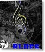 Blues Music Poster Metal Print