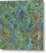 Bluetone Diamonds Metal Print