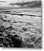 Bluffs Beach Sunset 4 Metal Print