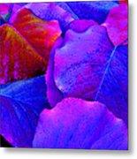 Bluish Purple And Pink Leaves Metal Print