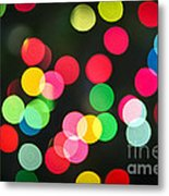Blurred Christmas Lights Metal Print