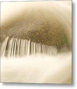 Blurred Motion Photo Of Water Rushing Metal Print