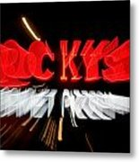 Blurred Neon Sign Metal Print