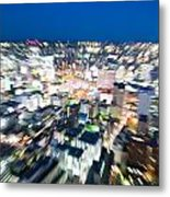 Blurred View Towards An Object Metal Print