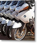 Bmw Police Motorcycles Metal Print